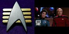 Star Trek The Next Generation CAPTAIN FUTURE IMPERFECT Communicator Pin Combadge