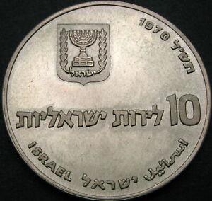 ISRAEL 10 Lirot 1970 - Silver - Pidyon Haben - aUNC - 2464 ¤