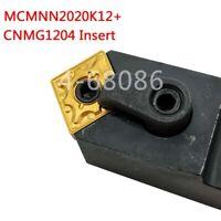 MCMNN2020K12-100 +2pc CNMG120408-MA US735 lathe Insert lathe turning tool holder