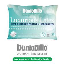 DUNLOPILLO Luxurious Talalay Latex Dual Contour Profile / Medium Feel Pillow NEW
