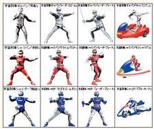 Bandai Toei Space Sheriff Gavan Sharivan Shaider Gashapon Figure Full set 12 Pcs