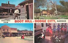 Postcard Greetings from Boot Hill Dodge City Kansas