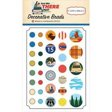 Scrapbooking BRADS Travel Are We There Yet? Collection Carta Balla 34 pieces New