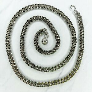 """Silver Tone Skinny Ball Charm Belly Body Chain Link Belt One Size OS 36"""""""