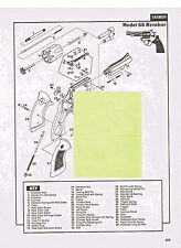 TAURUS MODEL 66 REVOLVER WITH  EXPLODED VIEW & PARTS LIST 1992 AD