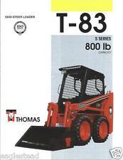 Equipment Brochure - Thomas - T-83 S series - Skid Steer - 1994 (E2352)
