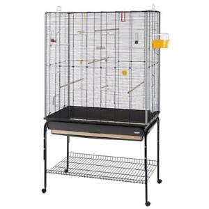 Ferplast Large Metal Parakeet Canaries Bird Aviary Cage W Accessories On Wheels