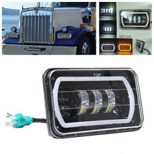 "4X6"" Square LED Off-Road Headlight Reflector Sealed Beam With High/Low Beam+DRL"