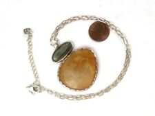 SILPADA 925 Sterling Reversible Pyrite Tigers Eye Day and Night Necklace