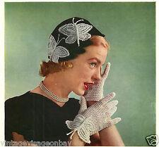 Vintage 1950 Mariposa Crochet patterns-16 páginas De Mariposas Para make-repro