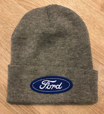 FORD Logo Beanie Toboggan Embroidered Patch Style Winter Cap Racing Truck BNT