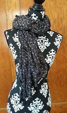 Ralph Lauren Scarf Denim Supply NEW Floral Tassel Fringe Delphine Black