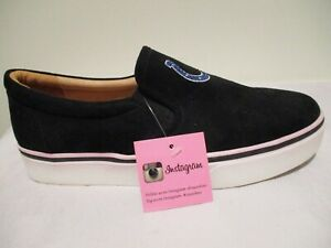 Indianapolis Colts Women's Suede Glitter Logo Slip-on Shoe - Size 10 - Cuce, New