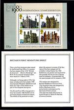 GREAT BRITAIN #831-834a  1978  INTERNATIONAL STAMP EXIB. '80 MINT  VF NH O.G S/S