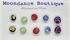 "Handmade Unique 1/4"" Fimo Polymer Ball Bead Pierced Post Earrings Set #3"
