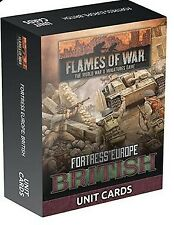 Flames of War Fortress Europe British Unit Cards Fw261B