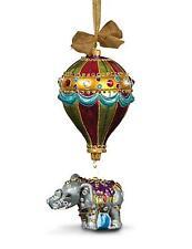 Jay Strongwater Balloon with Elephant Glass Christmas Ornament - Jewel NIB
