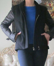 OLMAR and MIRTA by GARETH PUGH Leather Sleeves,Wool jacket/coat IT 40,US 6,GB 8