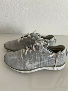 Nike Free 5.0 Grau Silber Weiß Gr.40 Sneaker Turnschuhe Schuhe