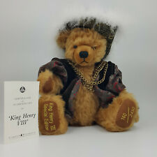 More details for a limited edition brown mohair teddy bear by hermann - special edition of king h