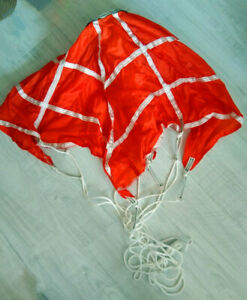 Chinese Military Retired Orange-red Guiding Chute Parachute Chute Parachute