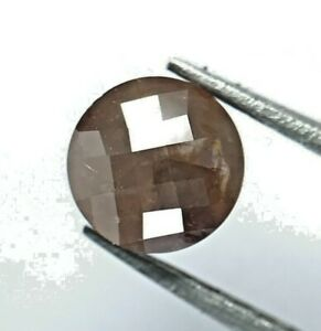 Rustic Natural Diamond 0.47TCW 4.6 MM Brown Sparkling Round Ball Cut for Gift