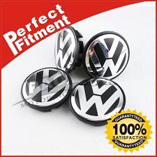 For VW Golf GTI PASSAT JETTA New Wheel Center Hub Caps 65mm 4x Black