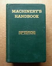 Machinery's Handbook 16th. Edition 1959 - Franklin Kenyon Caterpillar Tractor Co