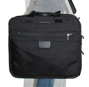 BRIGGS & RILEY Black Rolling Briefcase Computer Tote Crossbody CarryOn Bag $419
