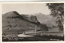 RPPC~VIEW OF SHELL CANYON~WYOMING~SIGNED F.J.HISCOCK~1930's