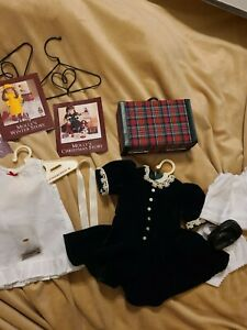 Pleasant company Molly Christmas dress and winter story and undies hangers lot