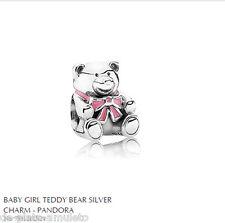 PANDORA Charm Sterling Silver ALE S925 PINK TEDDY BEAR BABY GIRL 791124EN24