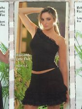 Resille French Designers Sexy Mini Skirt Set Black With Ruffles New Imported