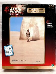 STAR WARS EPISODE 1 MOVIE TEASER POSTER PUZZLE, SEALED BOX  EXTRA-LARGE PIECES