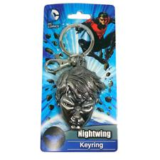 NEW DC Comics Nightwing Keyring Keychain Metal Batman Silver Deluxe NWT Rare Car
