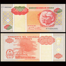 Angola 50000 50,000 Kwanzas, 1995, P-138, banknote, UNC