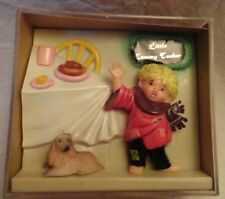 Little Tommy Tucker Nursery Rhyme shadow box antique toys baby vintage