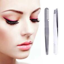 1PC Stainless Steel Hair Removal Eyebrow Clip With Eye Brow Comb Tools Useful
