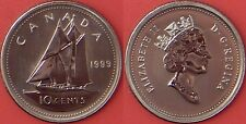 Specimen 1999 Canada 10 Cents From Mint's Set