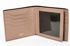 Tom Ford NWT $550 Solid Beige Smooth 100% Calf Leather Bifold Wallet Card Holder