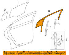 Chevrolet GM OEM Cruze Window Glass-Rear Door-Run Weather Strip Right 95040058