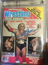Dusty Rhodes Signed Wrestling Annual Vintage Rare Issue BECKETT SLAB BAS PROOF