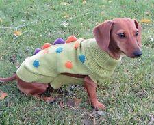 SMALL Dinosaur Knit Dog Sweater NEW halloween costume World Market Dachshund