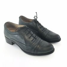Dune 39/ UK6 Dark Grey Distressed Leather Lace Up Derby Smart Office Dress Shoes