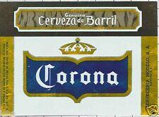 MEXICO - Cerveceria Modelo - Cerveza de Barril - beer label C1461
