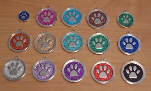 Expressions Engravers  round glitter paw pet/dog tag