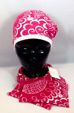 Vera Bradley Twirly Birds Pink Scarf Hat Knit Flower Pink Breast Cancer Set Of 2