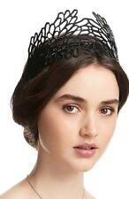 💕💕💕RRP $199 New MIMCO Black Petal Parade Crown Headpiece Headband Fascinator