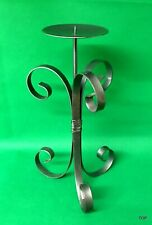 Candle Holder 13in Large Forged Metal Lights Stumpfkerze Cheap