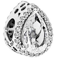 Authentic Pandora Clear Radiant Teardrop 796245CZ Charm S925 ALE